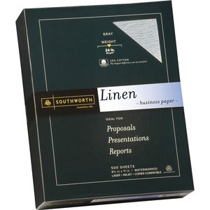 Southworth 24lb Gray Linen Business Paper (Box of 4)