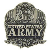 "PIN-ARMY LOGO,PEWTER (1"")"