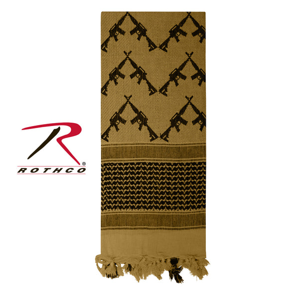 Rothco Crossed Rifles Shemagh Tactical Scarf
