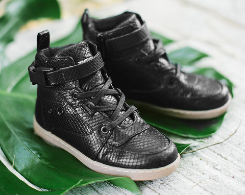 KINGSTON SNAKESKIN SNEAKERS