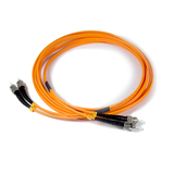 10ft (3m) LSZH Fiber Optic Patch Cord - MM / ST-ST
