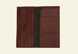 Slim Travel Wallet, Oxblood wallet luxury gift online