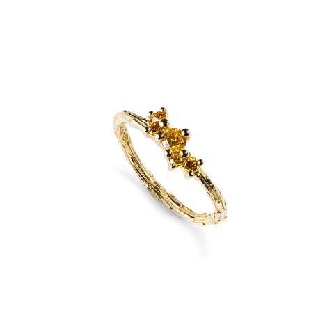 Cassiopeia Yellow Diamond Engagement Ring
