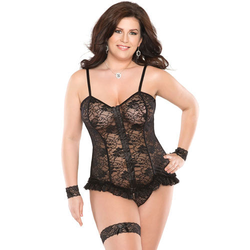 Coquette Stretch Lace Corset UK 16 to 20