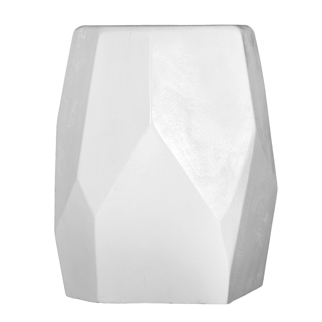 HARARE STOOL + SIDE TABLE / WHITE