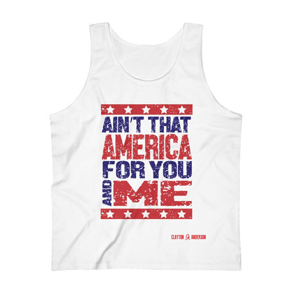 Ain't That America Pink Houses Lyric Men's Ultra Cotton Tank Top