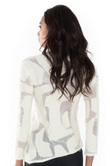 Inlay V Neck Sweater - Nude - Sweater - TOPGEARNY