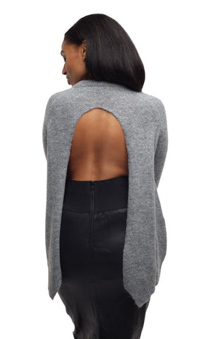 Open Back Round Neck Sweater