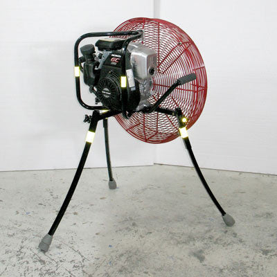 24-inch Ventry PPV Fan 24GC160 with legs extended, rear view