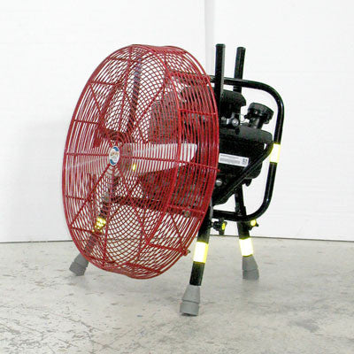 24-inch Ventry PPV Fan 24GC160 with legs retracted, facing left