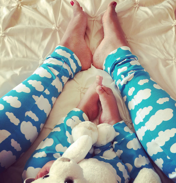 Baby Brain Blue Cloud Adult Leggings