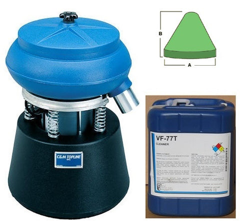 TLV 25 STARTER KIT FOR ALUMINUM with Plastic Media and General Purpose Cleaner Compound