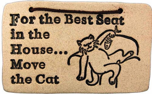 For the Best Seat in the House...Move the Cat - Amaranth Stoneware Canada