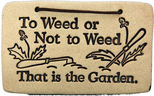 To Weed or Not to Weed, - Amaranth Stoneware Canada