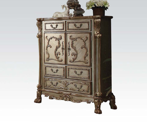 AC23166 TRADITIONAL DRESDEN GOLD PATINA BONE CHEST