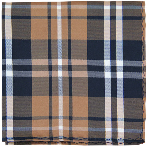 New Men's Polyester Woven pocket square hankie only plaid