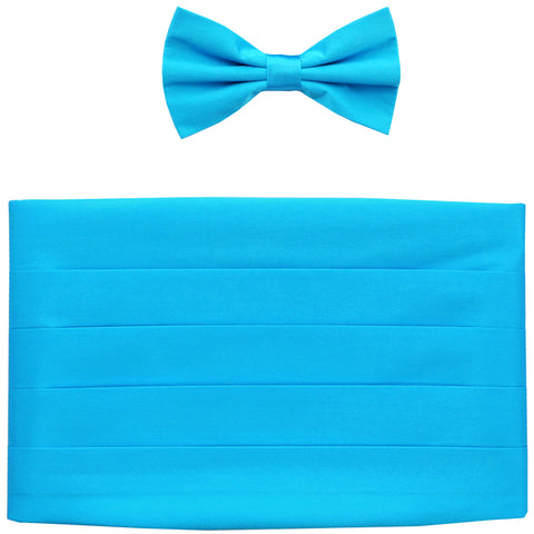 NEW Men's 100% SILK Cummerbund, bowtie set wedding prom party formal