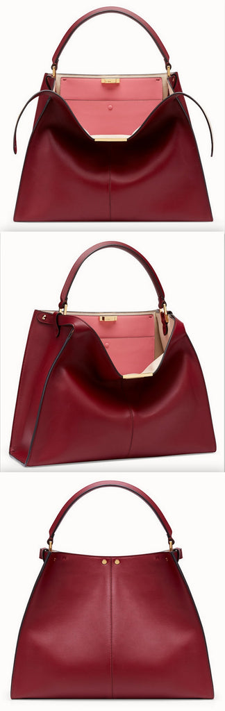 Peekaboo X-Lite Large Burgundy/Red Leather Bag