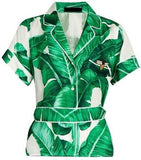 Banana Leaf Print Pajama Top & Pant Set - DESIGNER INSPIRED FASHIONS