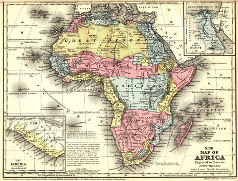 Africa Map Print Vintage Poster Old Map as Art - OnTrendAndFab