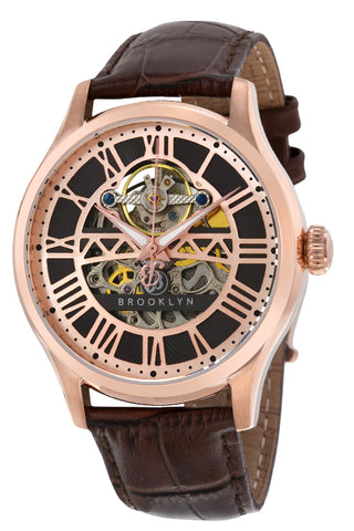 Brooklyn Bridgewater Skeleton Mens Automatic Watch BW-201-M3831