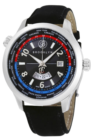 Brooklyn Cadman Swiss Quartz GMT Mens Watch BW-206-M1221