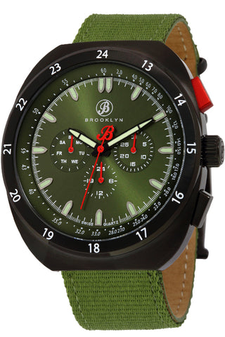 Brooklyn Floyd Canvas Army Swiss Quartz Mens Watch BW-305-M41194