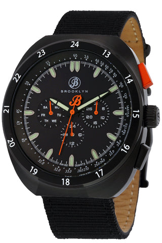 Brooklyn Floyd Canvas Army Swiss Quartz Mens Watch BW-305-M4224