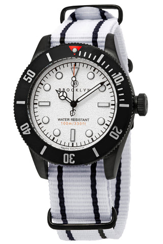 Brooklyn Watch Co. Black Eyed Pea White Dial Mens Watch BW-306-F-02-BB-NSWH