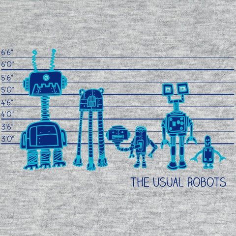 The Usual Robots </br> organic cotton t-shirt - Mild West Heroes  - 1