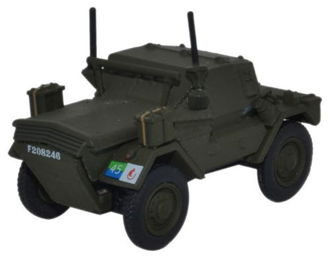 Oxford Diecast Dingo Scout Car 8th Kings Royal Irish Hussars - 1:76 Sc