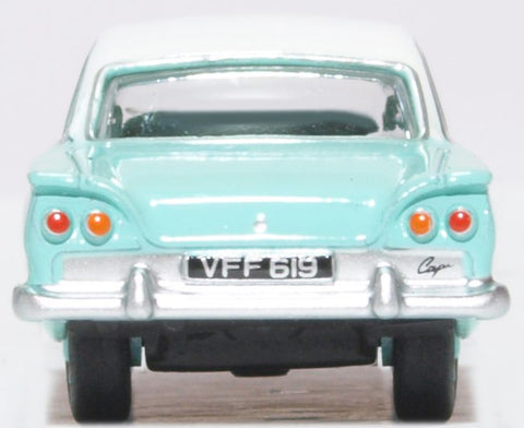 Oxford Diecast Ford Consul Capri Caribbean Turquoise and Ermine White
