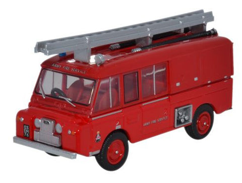 Oxford Diecast Land Rover FT6 Carmichael Army Fire Service - 1:76 Scal
