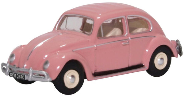 Oxford Diecast VW Beetle Pink UK Reg 1:76