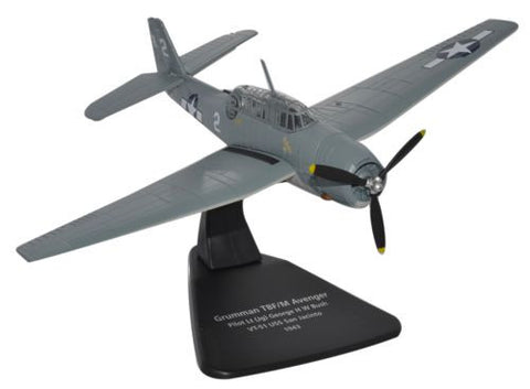 Oxford Diecast Avenger Bush USS Jacinto 1943 1:72 Scale Model Aircraft