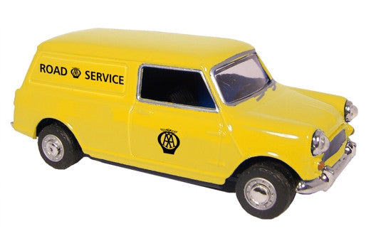 Oxford Diecast Mini Van AA Old logo - 1:43 Scale