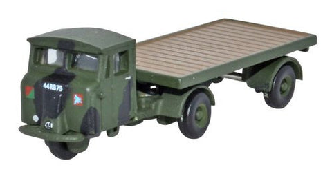 Oxford Diecast Scammell Mechanical Horse Flatbed RASC - 1:148 Scale