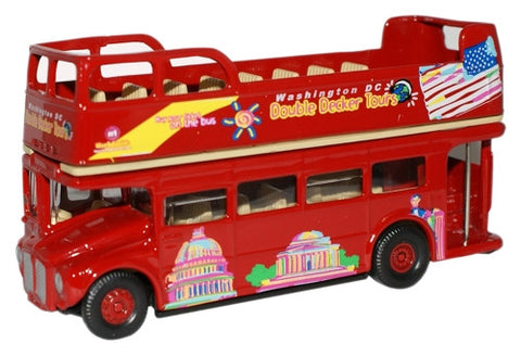 Oxford Diecast Washington Bus Open Top - 1:76 Scale