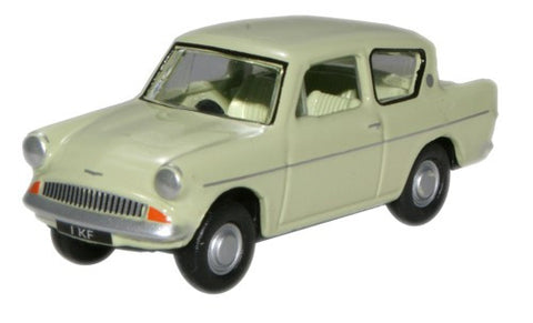 Oxford Diecast Lime Green 105E Saloon - Liverpool Museum - 1:76 Scale