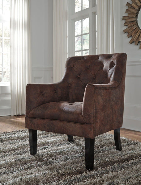 Drakelle- Mahogany Accent Chair - Ashley shop at  Regency Furniture