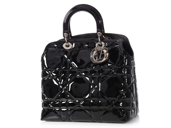 Dior Medium Black Patent Granville Tote