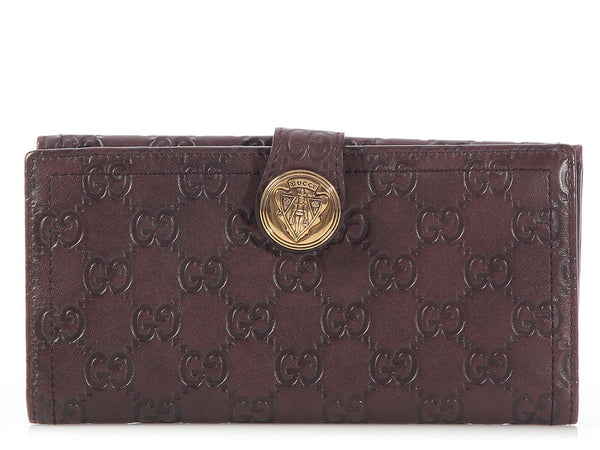 Gucci Brown Guccissima Hysteria Wallet
