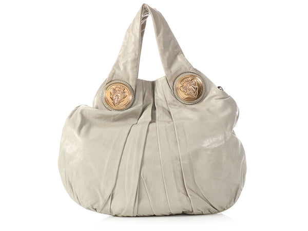 Gucci Gray Leather Hysteria Hobo