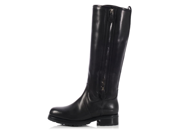Hermès Black Riding Boots
