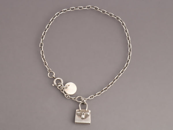 Hermès Sterling Kelly Bag Charm Bracelet
