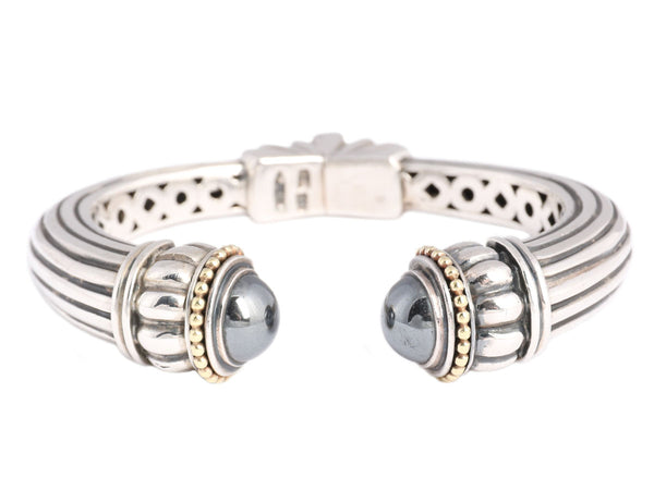 Lagos Sterling and 18K Hematite Bracelet
