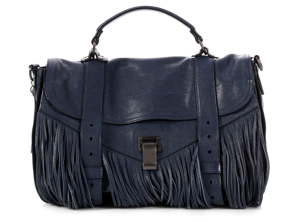 Proenza Schouler Medium Midnight Fringe Lux PS1