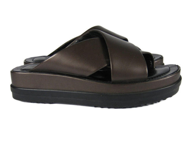 Tod's Metallic Brown Sandals