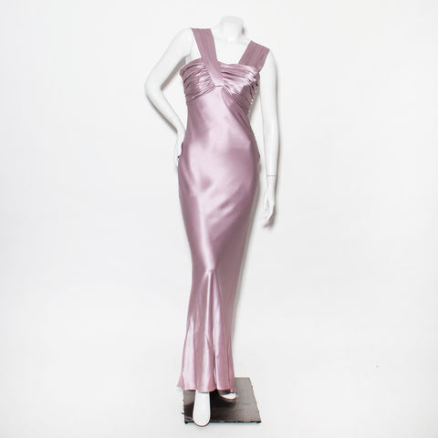 2008 Galliano For Dior Lilac Silk Gown
