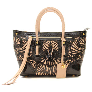 McQueen Laser-Cut Patent Leather Tote
